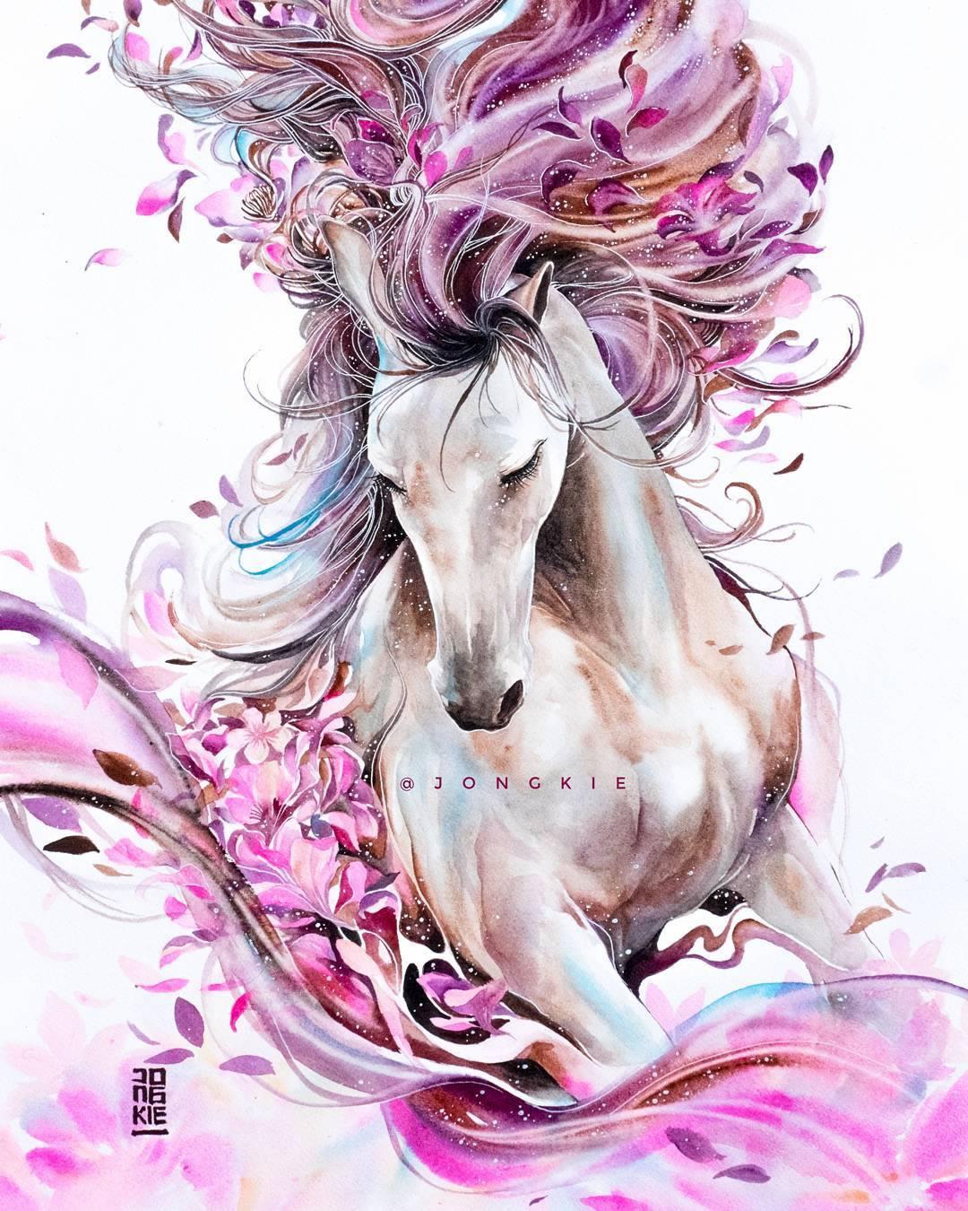 [Aquarelles] Les illustrations d'animaux magnifiquement colorées de Jongkie 8