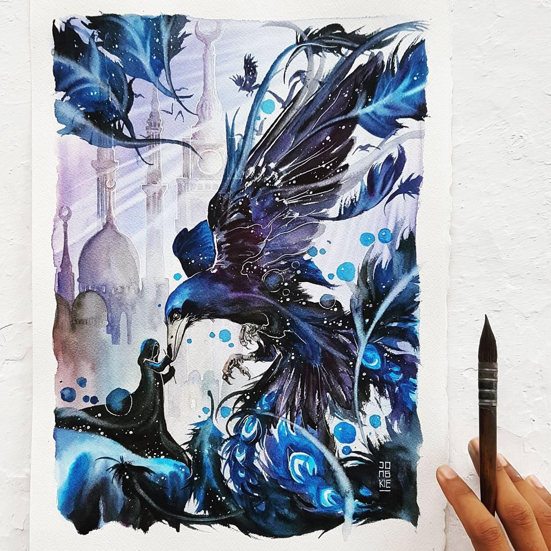 [Aquarelles] Les illustrations d'animaux magnifiquement colorées de Jongkie 9