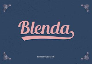 [Freebies] Typographie gratuite vintage et c'est la Blenda Script 1