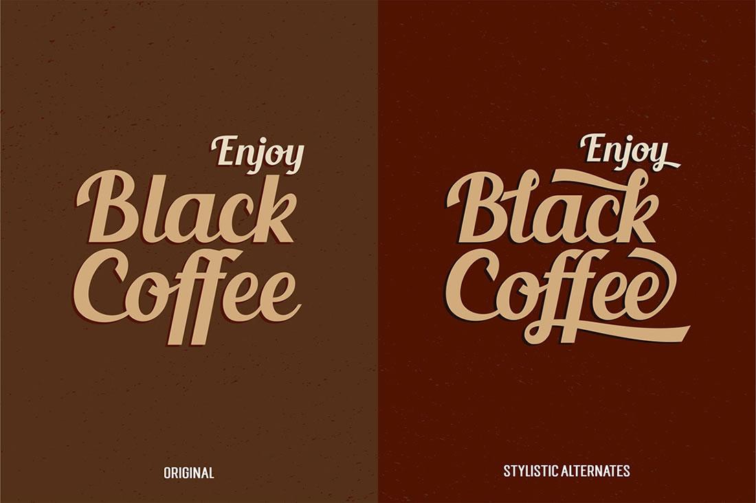[Freebies] Typographie gratuite vintage et c'est la Blenda Script 3