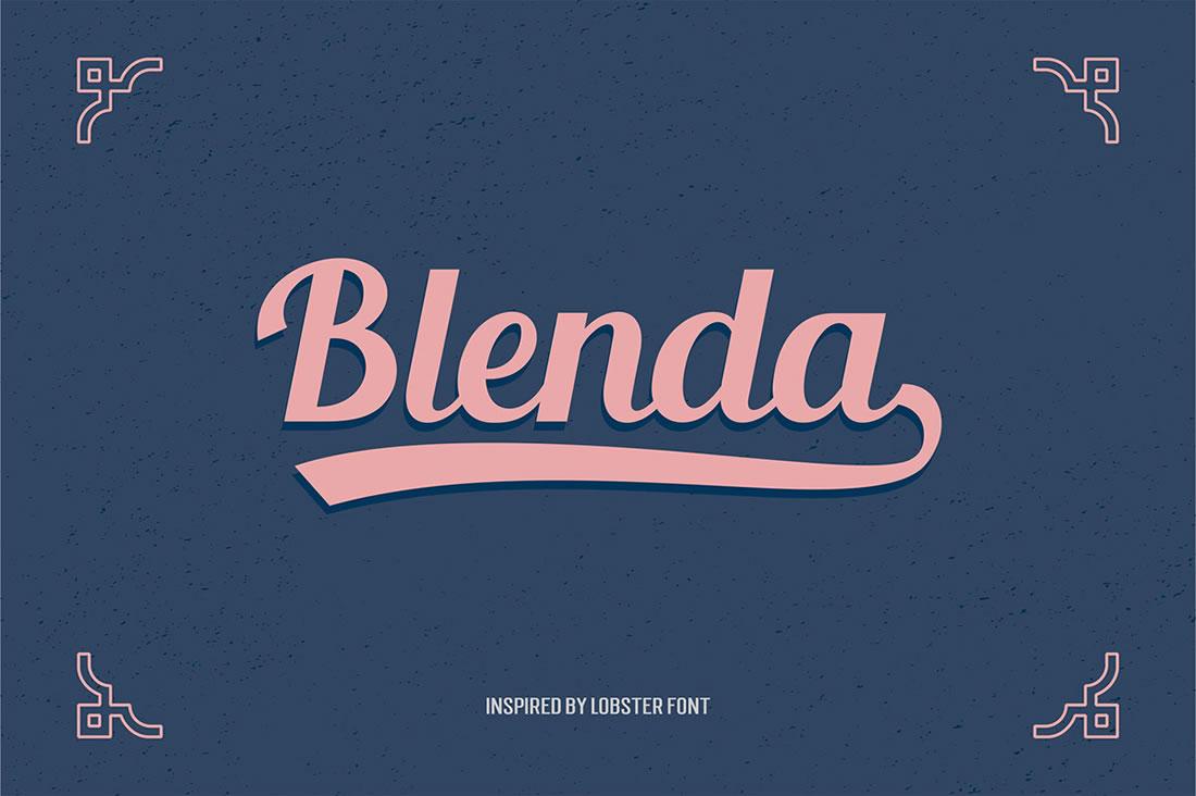 [Freebies] Typographie gratuite vintage et c'est la Blenda Script 2