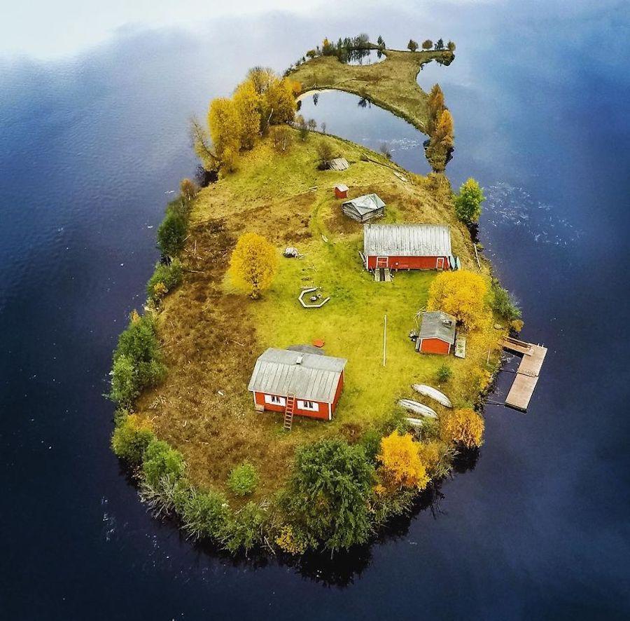 Kotisaari Island - Petite île finlandaise vue des 4 saisons par Jani Ylinampa 2