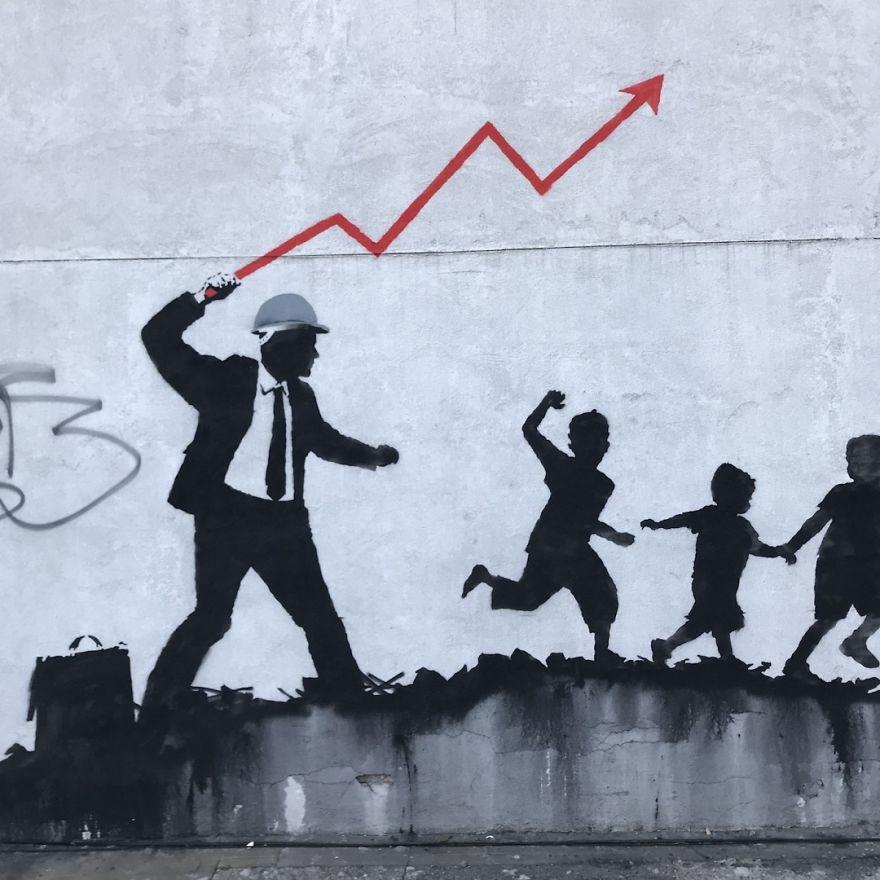 [Street Art] Nouvelle Oeuvre satirique de Banksy 2018 3