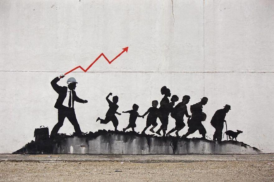 [Street Art] Nouvelle Oeuvre satirique de Banksy 2018 4