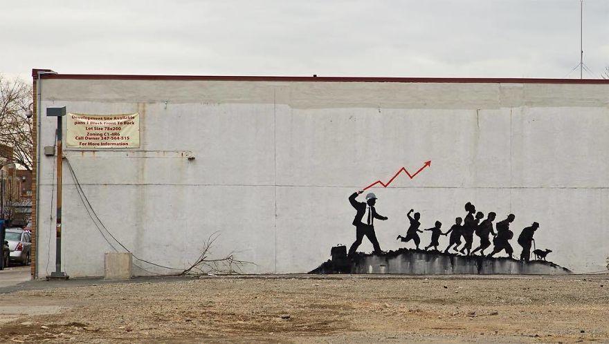 [Street Art] Nouvelle Oeuvre satirique de Banksy 2018 2