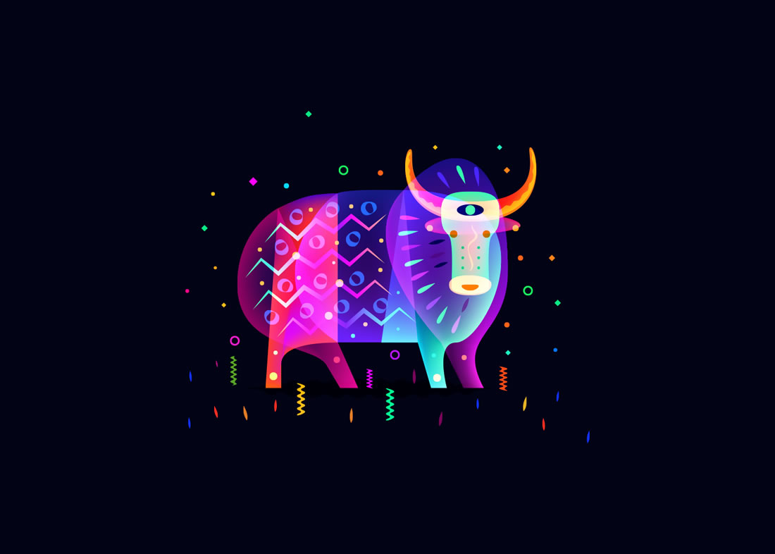 Les hypnotisantes illustrations d'animaux colorés de Ilya Shapko 8