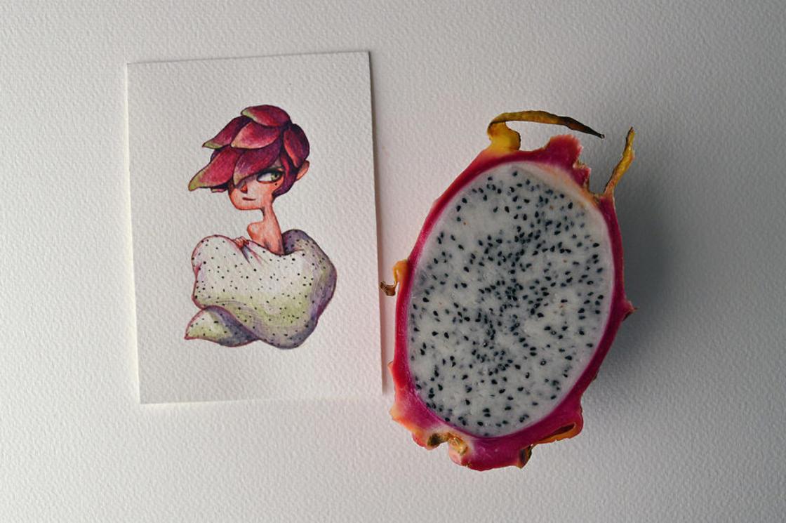 [Peinture] Des petites fées en aquarelle en forme de Fruits 6