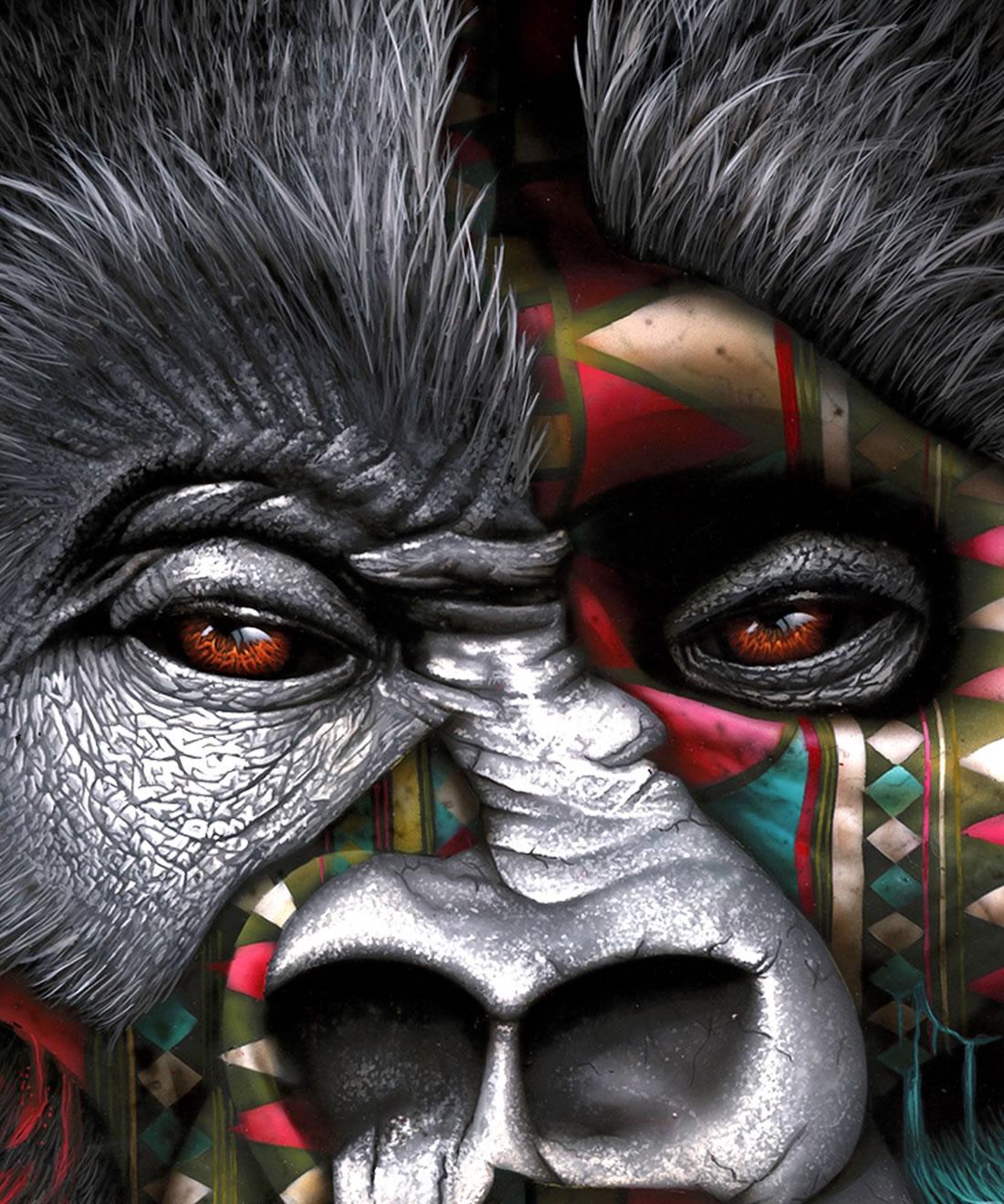[Peinture et Streetart] Wow, LA claque du jour avec Sonny et ses animaux d'une puissance... 11