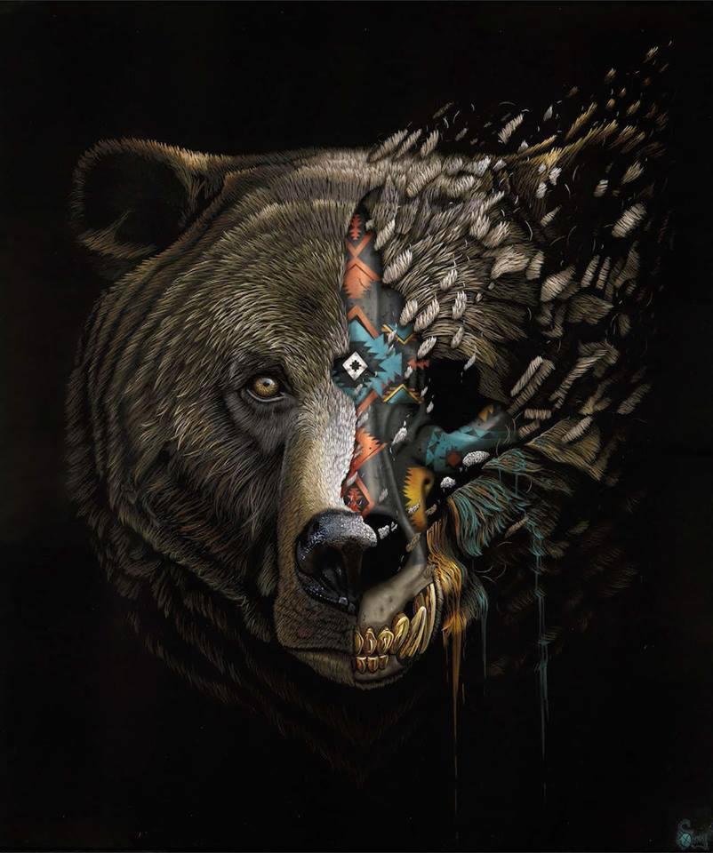 [Peinture et Streetart] Wow, LA claque du jour avec Sonny et ses animaux d'une puissance... 5