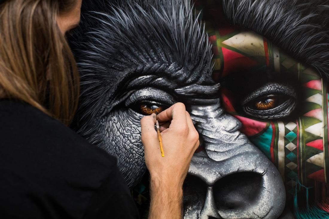 [Peinture et Streetart] Wow, LA claque du jour avec Sonny et ses animaux d'une puissance... 8