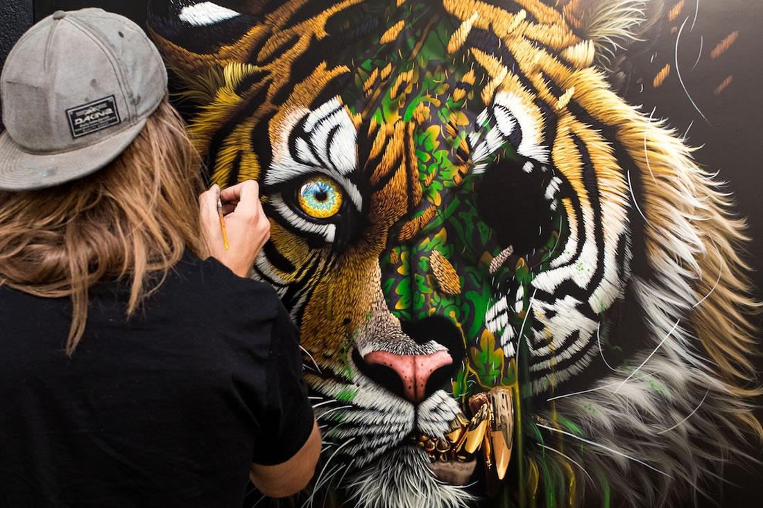 [Peinture et Streetart] Wow, LA claque du jour avec Sonny et ses animaux d'une puissance... 9