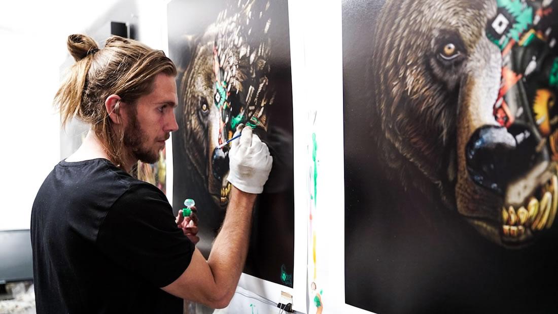 [Peinture et Streetart] Wow, LA claque du jour avec Sonny et ses animaux d'une puissance... 10