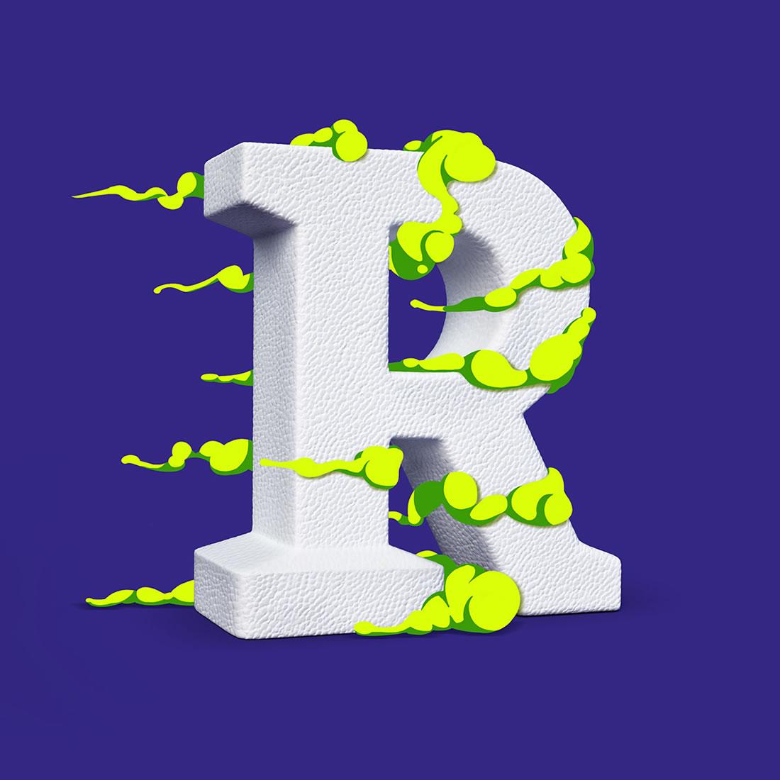[Inspiration] Un Alphabet Cartoon acidulé et coloré en 3D 22