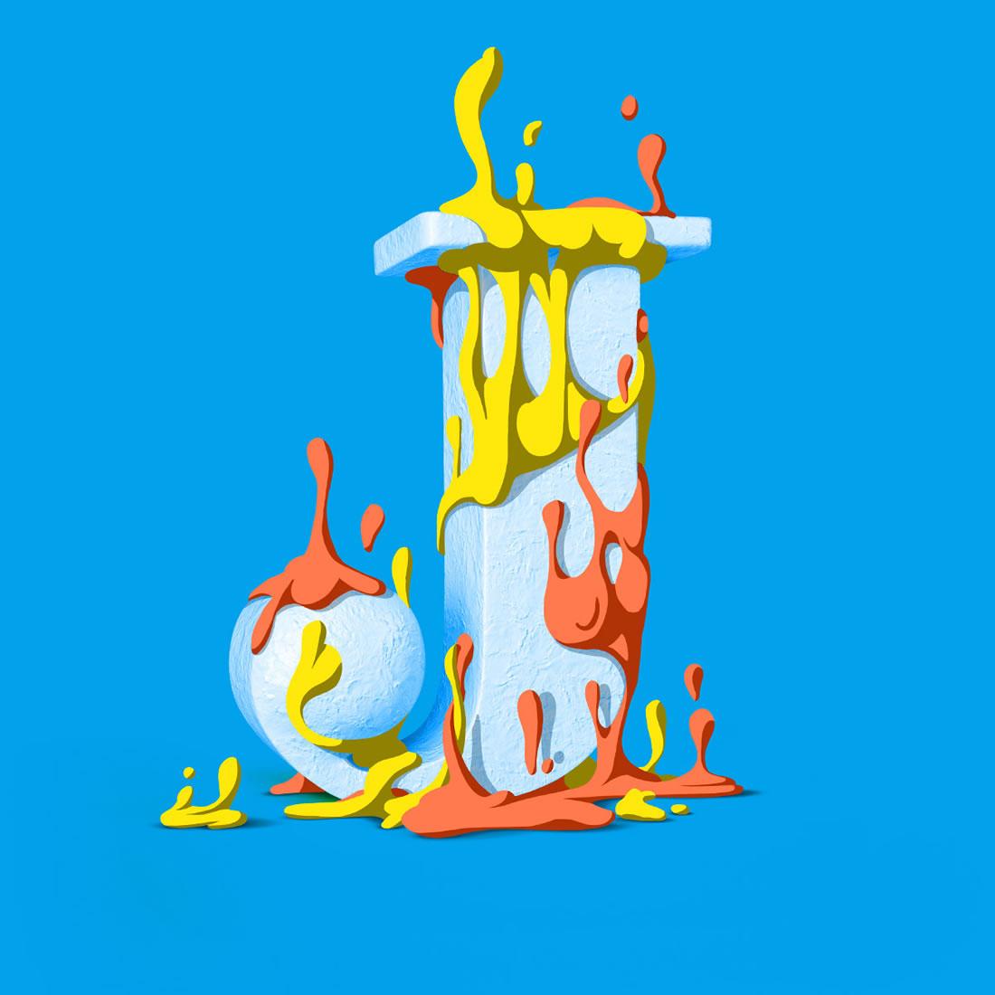 [Inspiration] Un Alphabet Cartoon acidulé et coloré en 3D 21