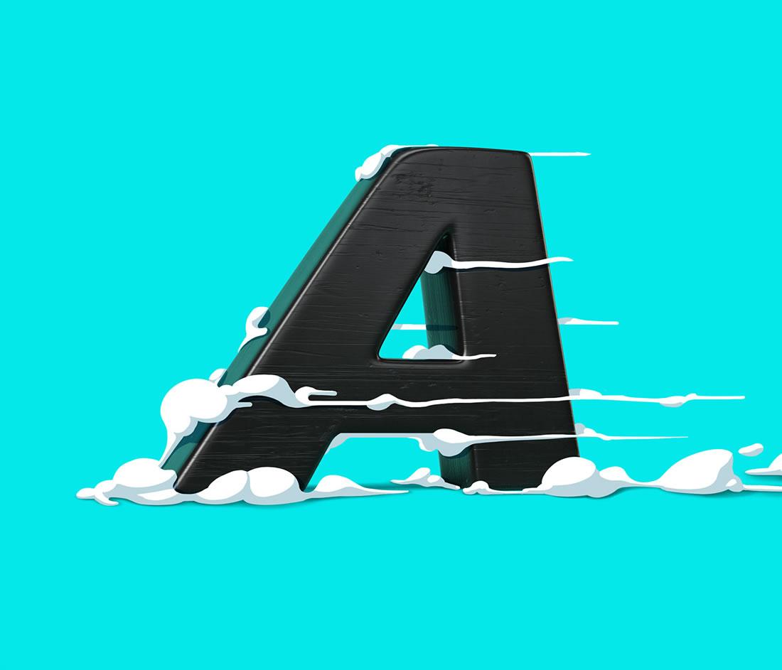 [Inspiration] Un Alphabet Cartoon acidulé et coloré en 3D 16