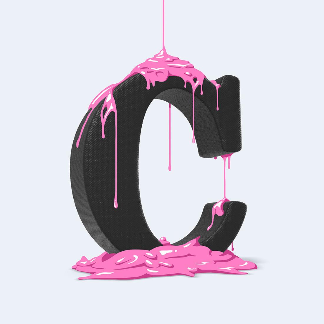 [Inspiration] Un Alphabet Cartoon acidulé et coloré en 3D 14