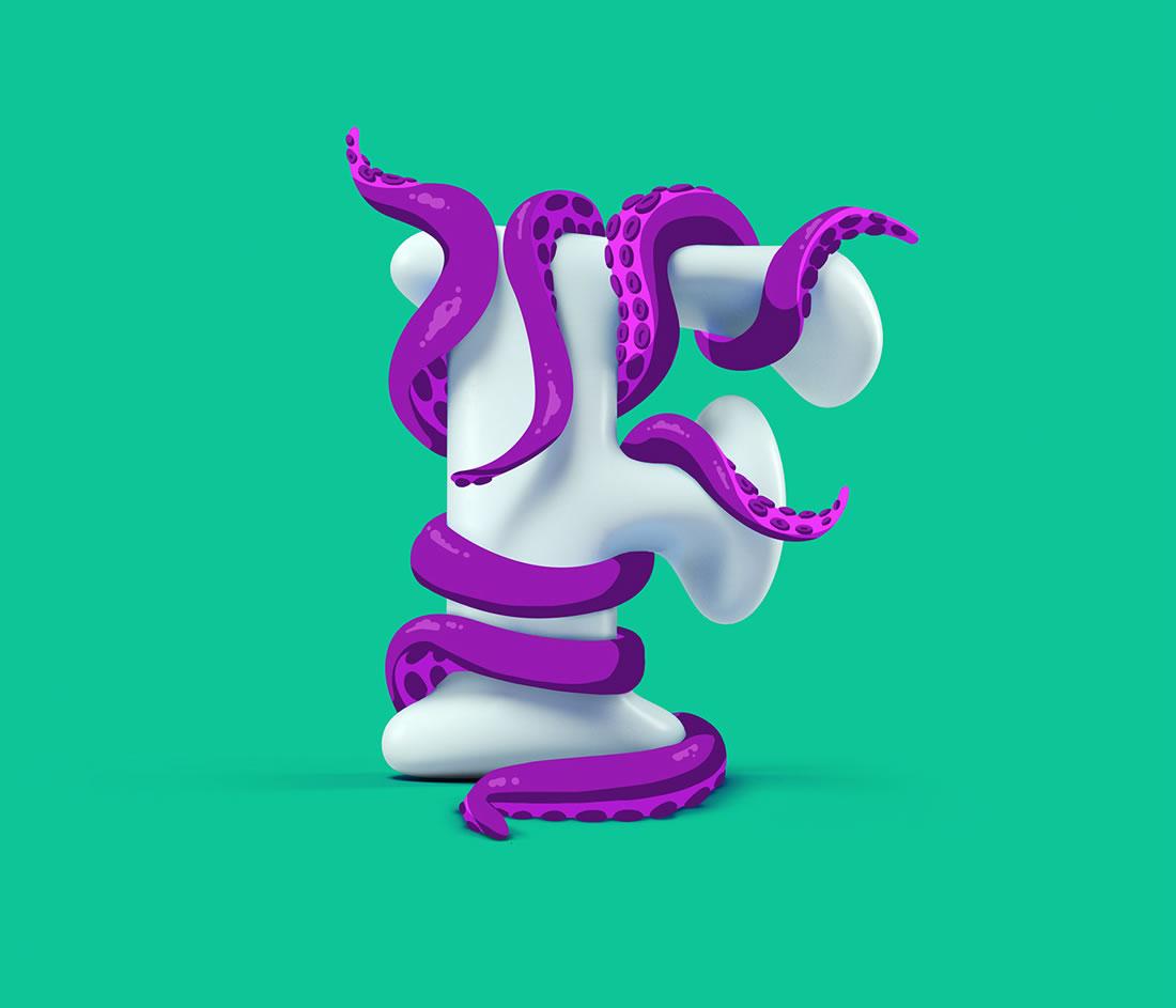 [Inspiration] Un Alphabet Cartoon acidulé et coloré en 3D 13