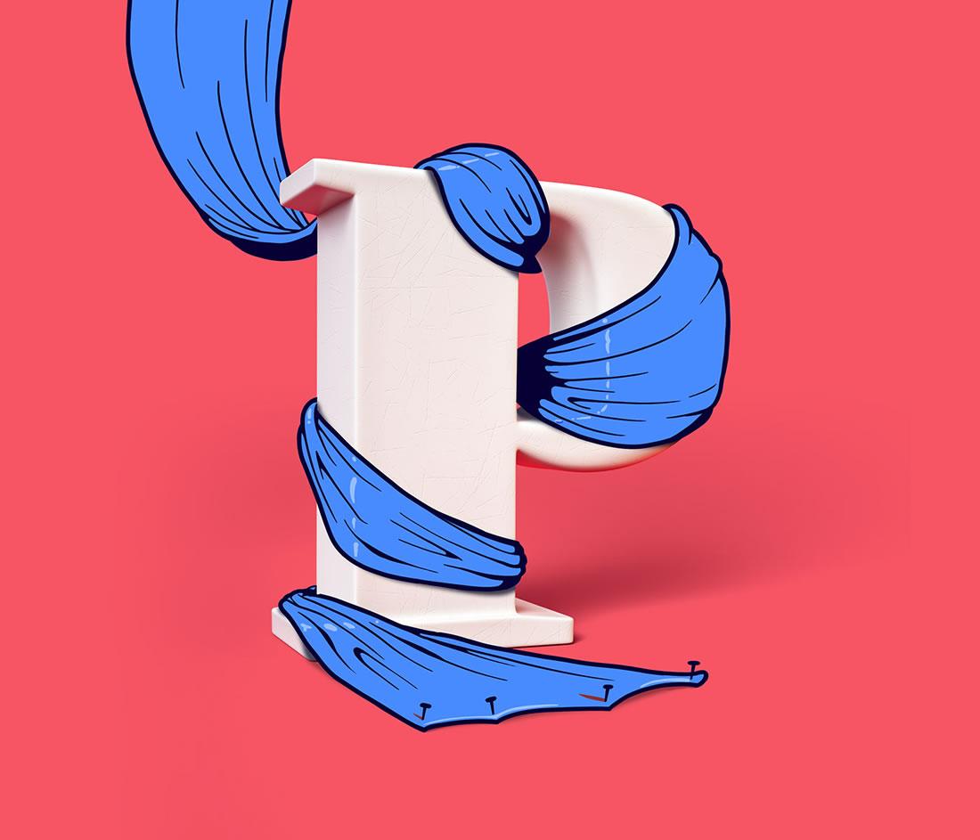 [Inspiration] Un Alphabet Cartoon acidulé et coloré en 3D 9