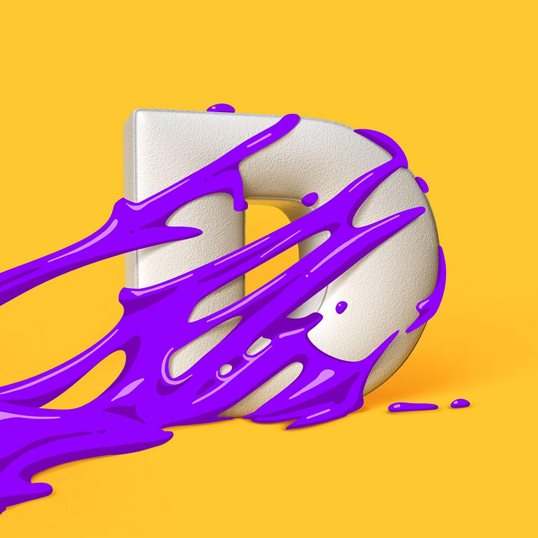 [Inspiration] Un Alphabet Cartoon acidulé et coloré en 3D 5