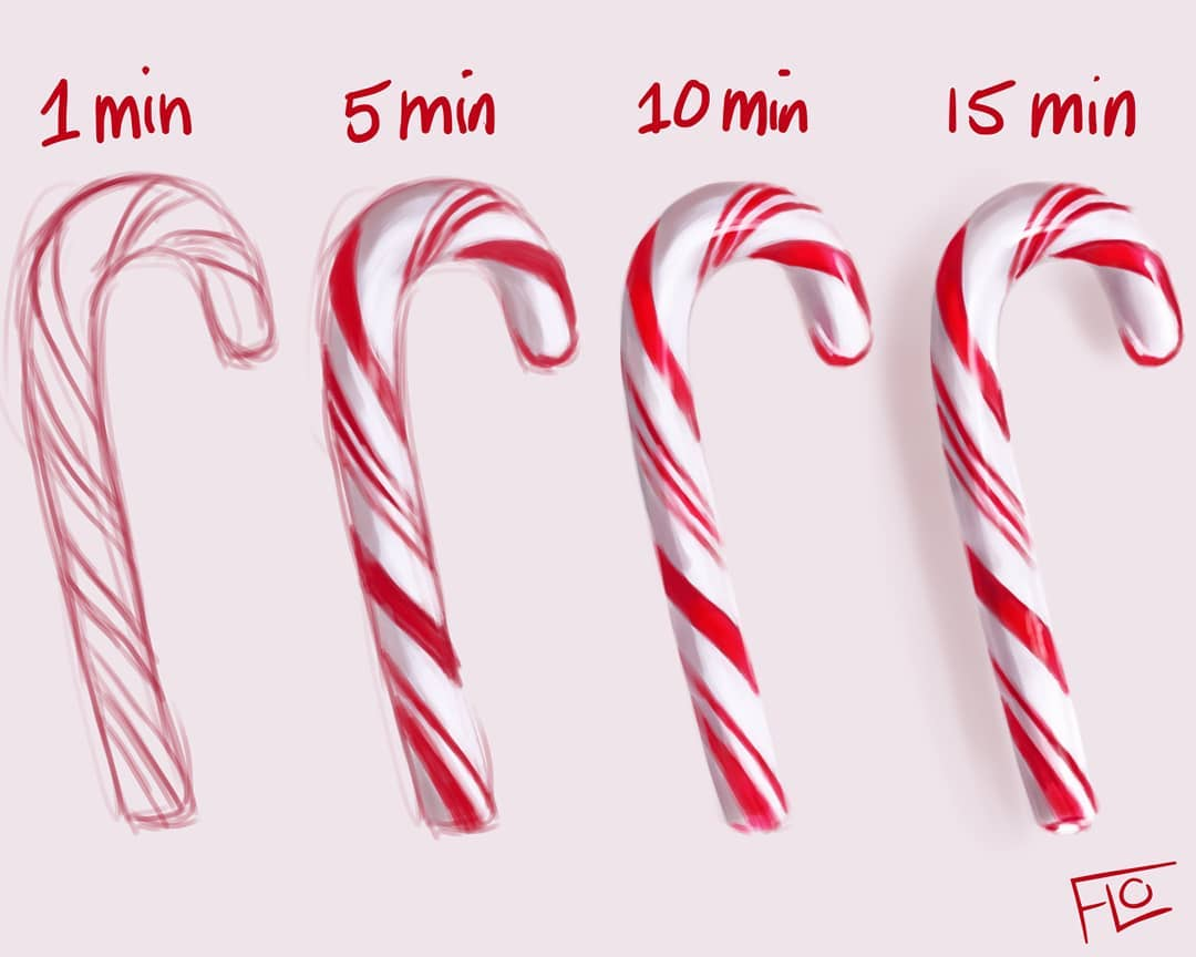 La même illustration en 10 sec, 1 min et 10 min 14