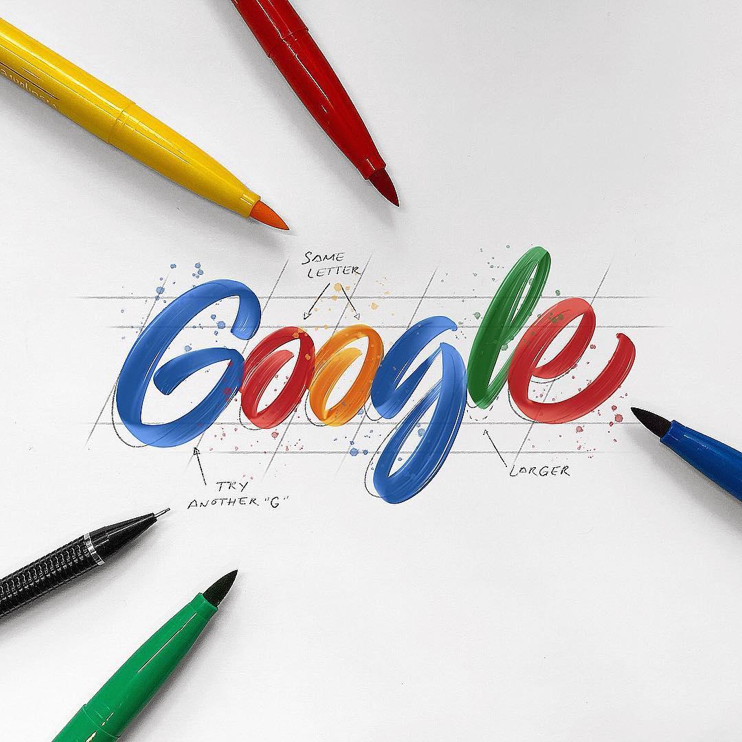[Typographie] Des logos célèbres Version Lettering et c'est magnifique 3