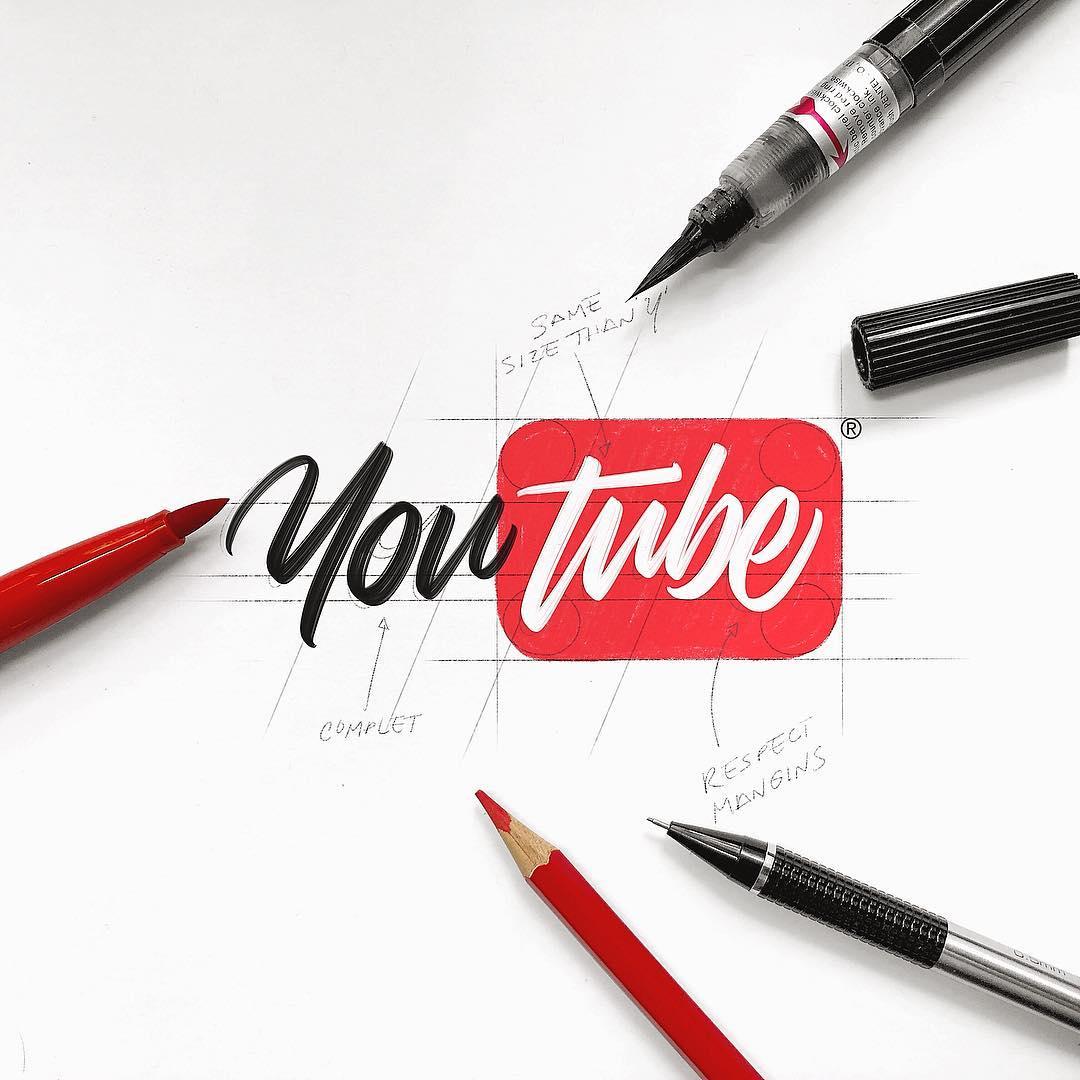 [Typographie] Des logos célèbres Version Lettering et c'est magnifique 4