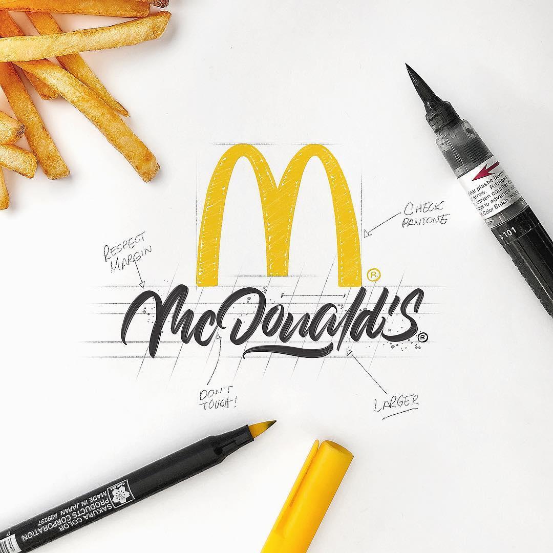 [Typographie] Des logos célèbres Version Lettering et c'est magnifique 10