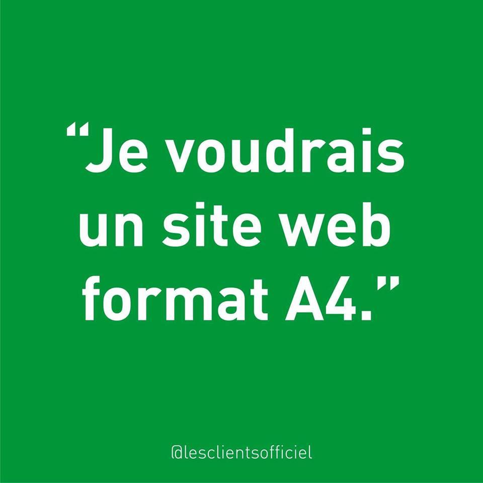 [Blague de Designer] Client VS Agence - Un Flyer format Web Merci (humour noir?) 13