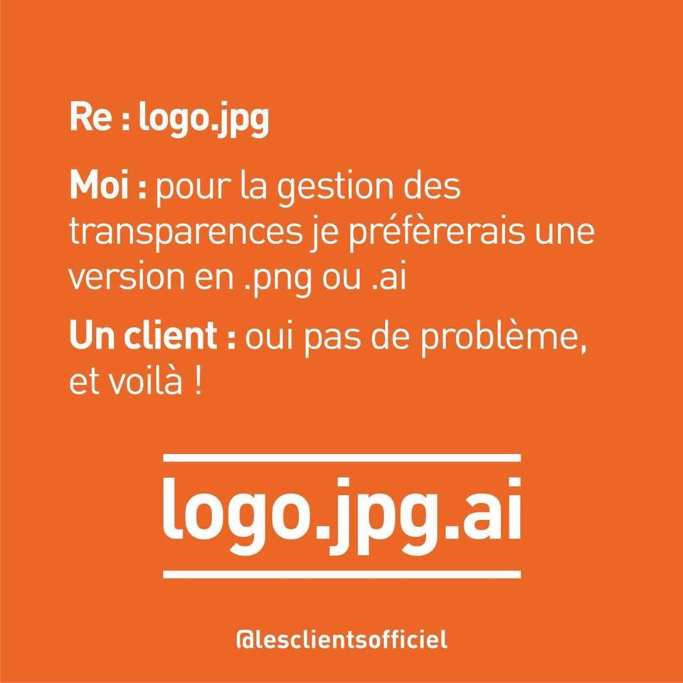 [Blague de Designer] Client VS Agence - Un Flyer format Web Merci (humour noir?) 14