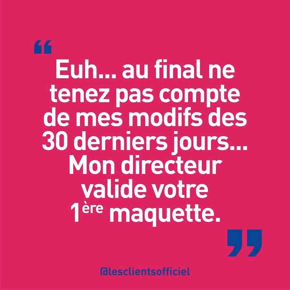 [Blague de Designer] Client VS Agence - Un Flyer format Web Merci (humour noir?) 18