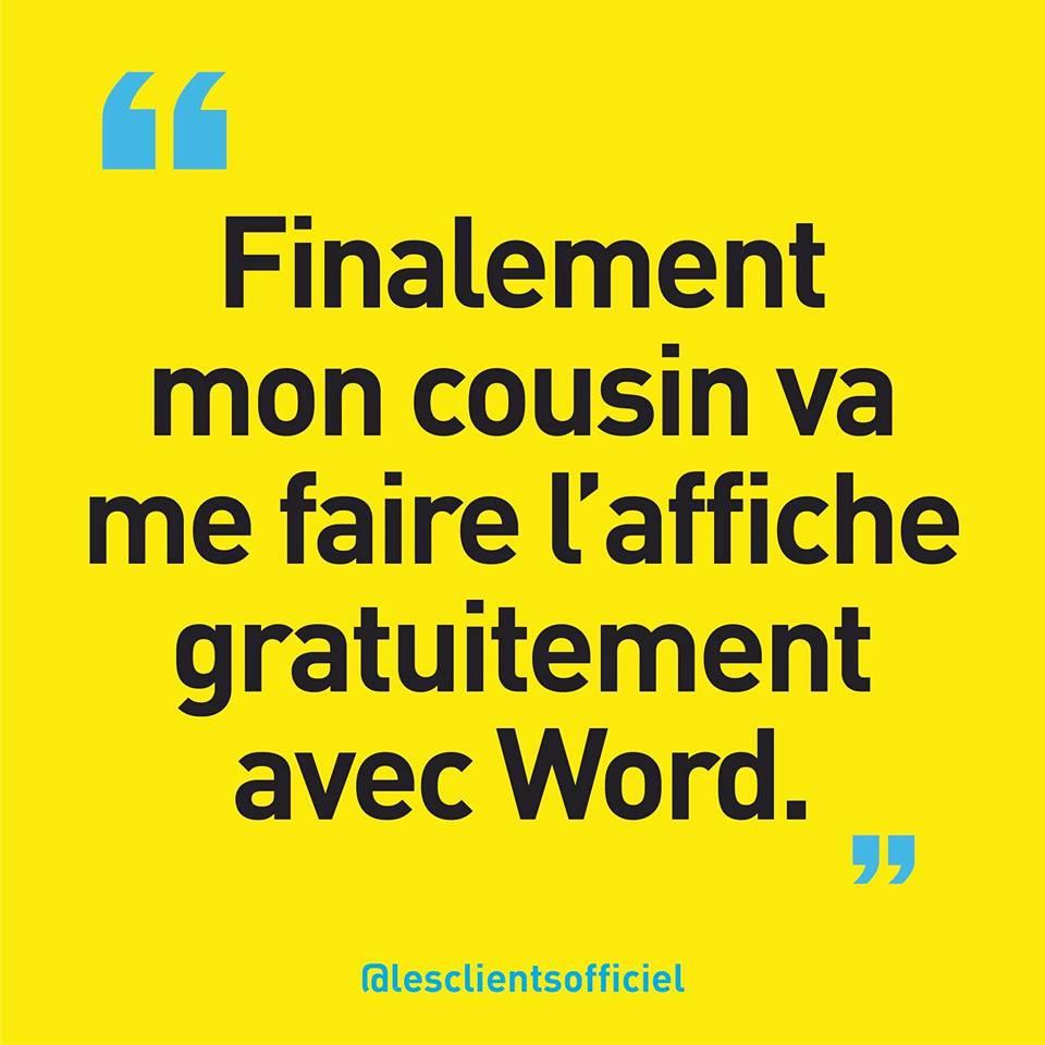 [Blague de Designer] Client VS Agence - Un Flyer format Web Merci (humour noir?) 7
