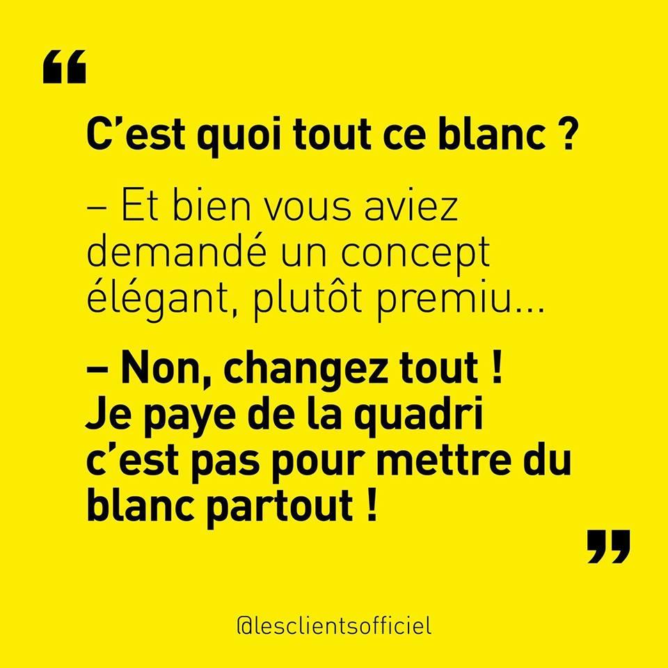 [Blague de Designer] Client VS Agence - Un Flyer format Web Merci (humour noir?) 8