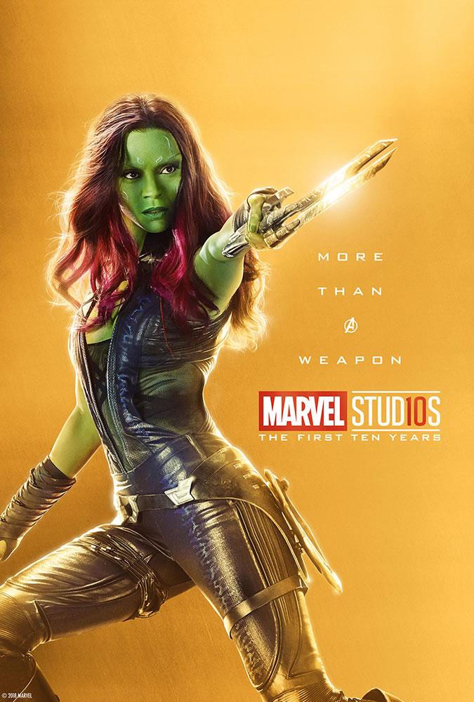 Marvel fête ses 10 ans avec une série de posters en OR 12
