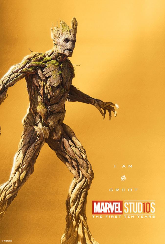 Marvel fête ses 10 ans avec une série de posters en OR 13