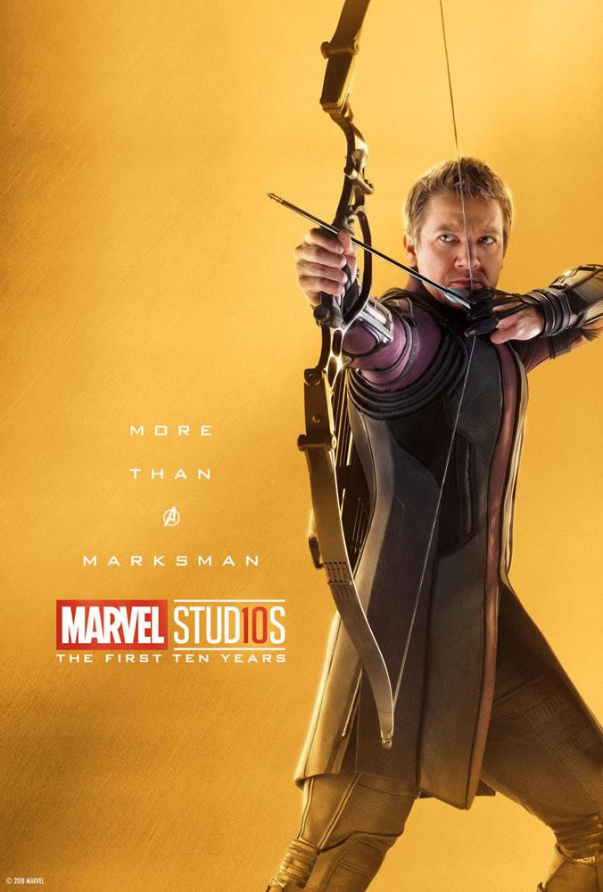 Marvel fête ses 10 ans avec une série de posters en OR 15