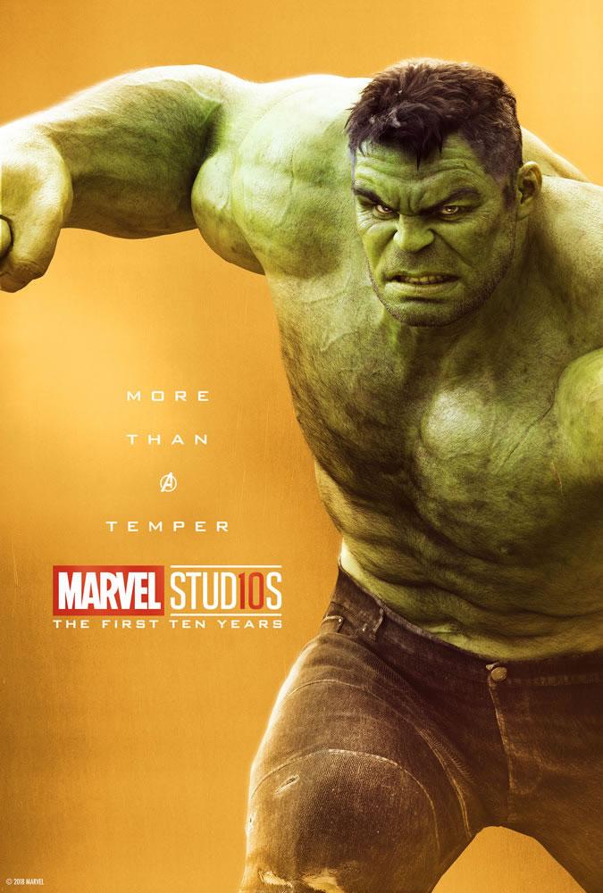 Marvel fête ses 10 ans avec une série de posters en OR 17