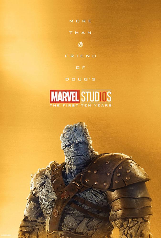 Marvel fête ses 10 ans avec une série de posters en OR 18