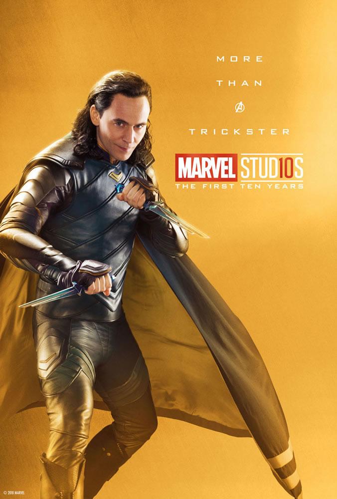 Marvel fête ses 10 ans avec une série de posters en OR 19