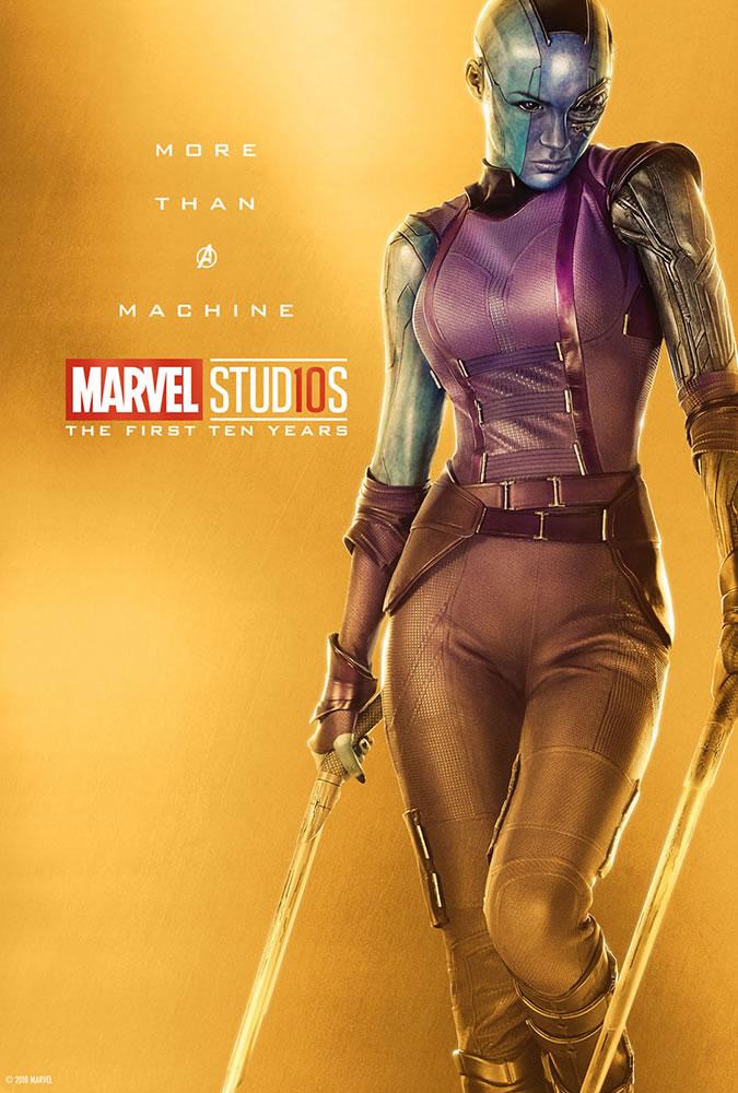 Marvel fête ses 10 ans avec une série de posters en OR 22