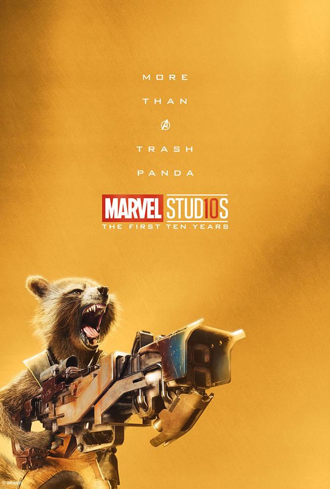 Marvel fête ses 10 ans avec une série de posters en OR 24