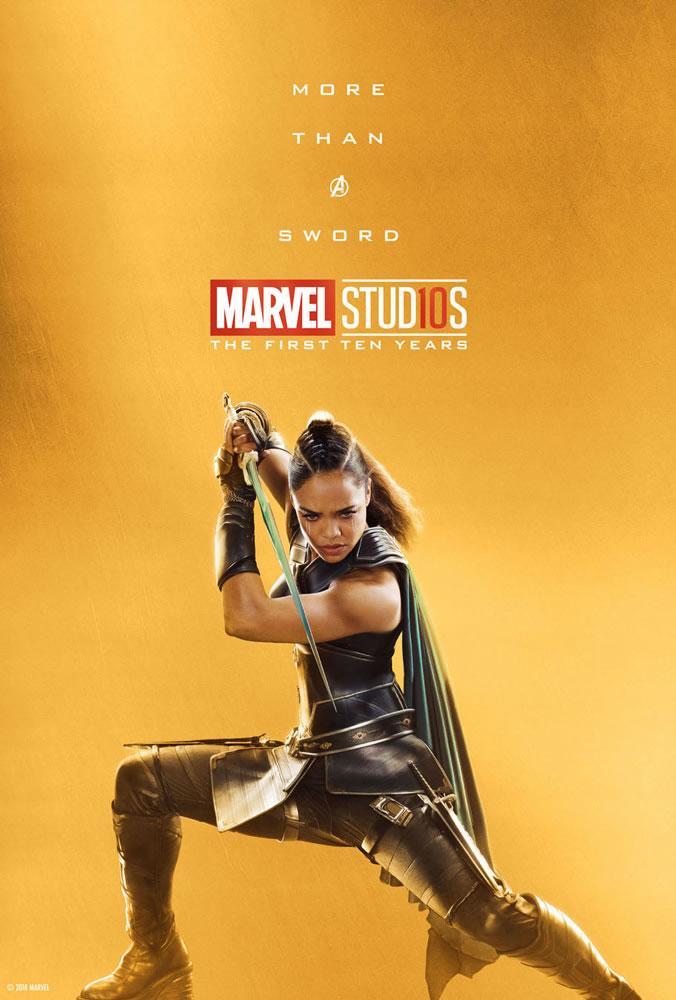 Marvel fête ses 10 ans avec une série de posters en OR 30
