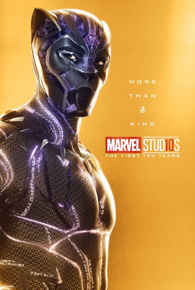 Marvel fête ses 10 ans avec une série de posters en OR 4