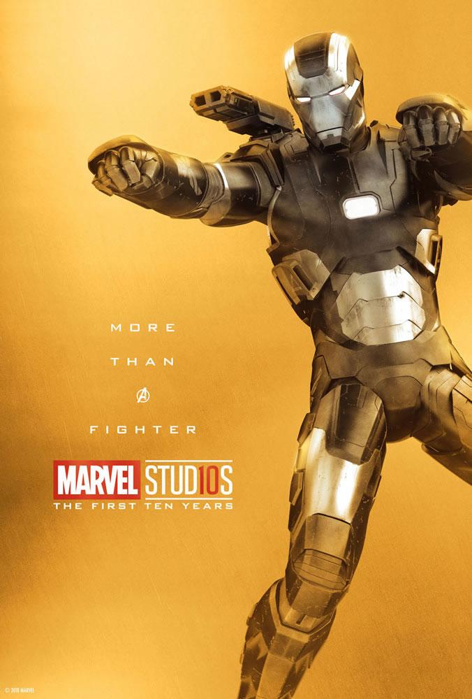 Marvel fête ses 10 ans avec une série de posters en OR 32