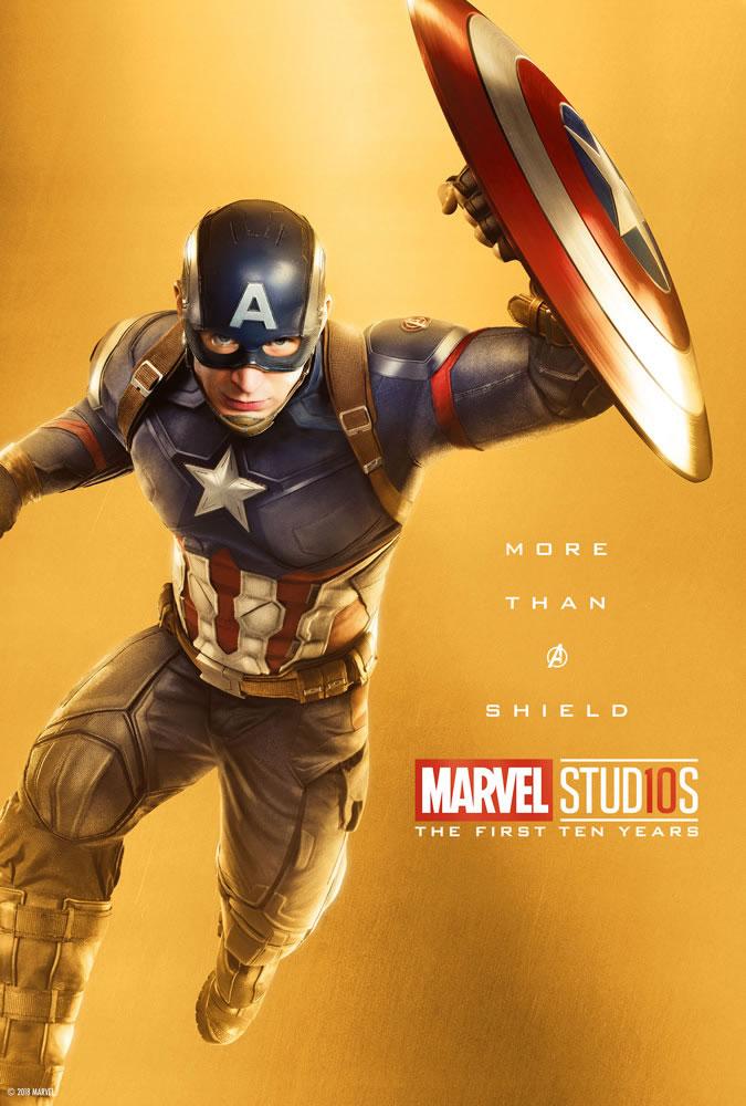 Marvel fête ses 10 ans avec une série de posters en OR 7