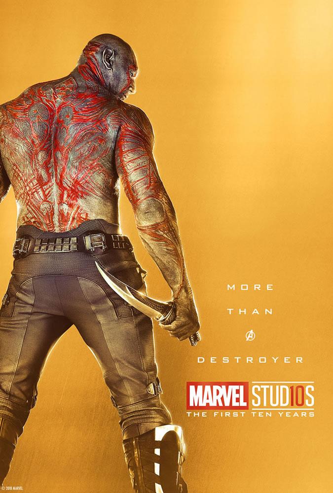Marvel fête ses 10 ans avec une série de posters en OR 8