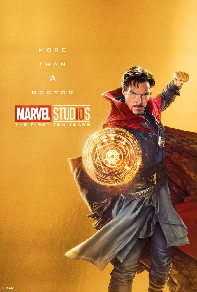 Marvel fête ses 10 ans avec une série de posters en OR 9