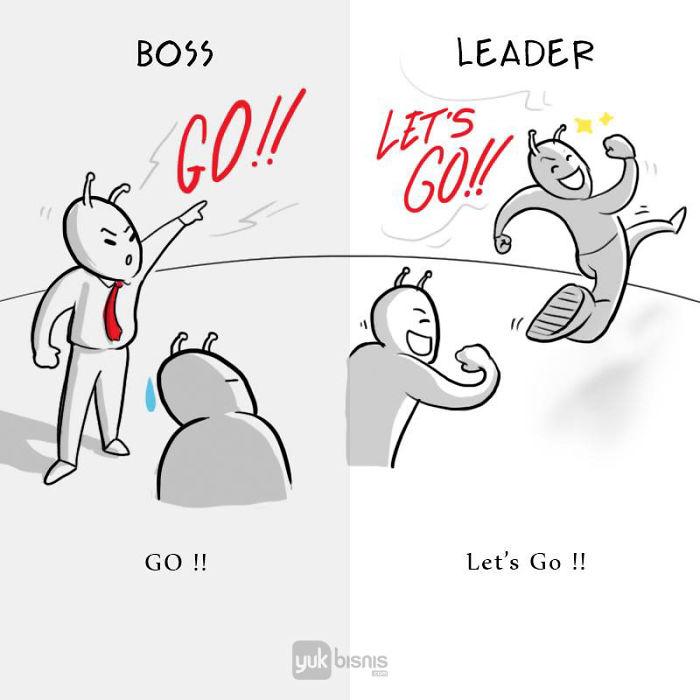 Illustration de la différence entre un BOSS et un LEADER 2