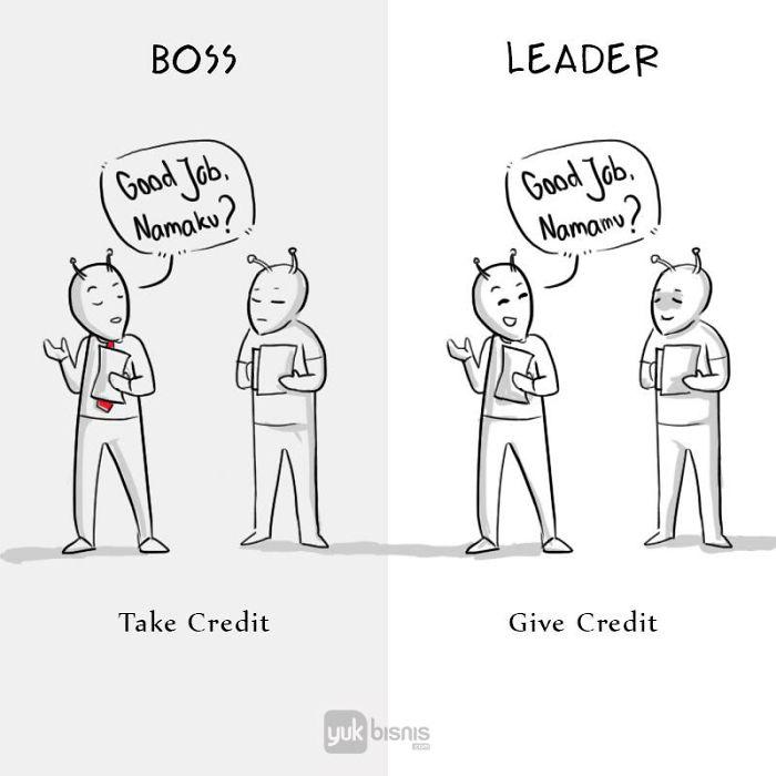 Illustration de la différence entre un BOSS et un LEADER 6