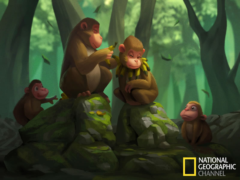 Les meilleures photos du National Geographic illustrées en Cartoon 3