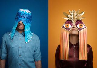 Des superbes masques Greek en Papier pour le Festival de Barcelone 1